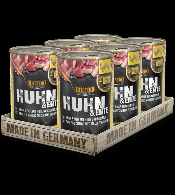 BELCANDO® Huhn & Ente mit Hirse & Karotten (6 x 400g)