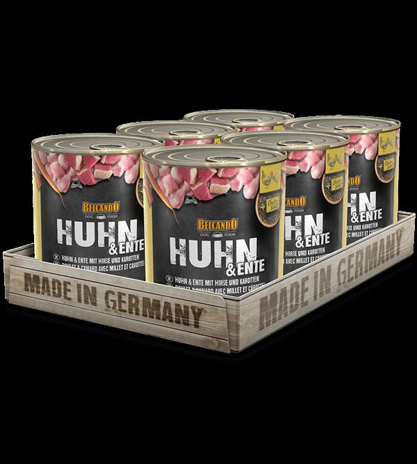 BELCANDO® Huhn & Ente mit Hirse & Karotten (6 x 800g)